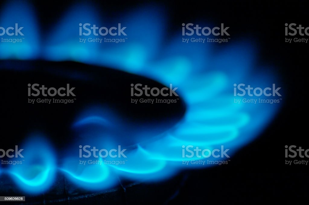 Fire gas stock photo