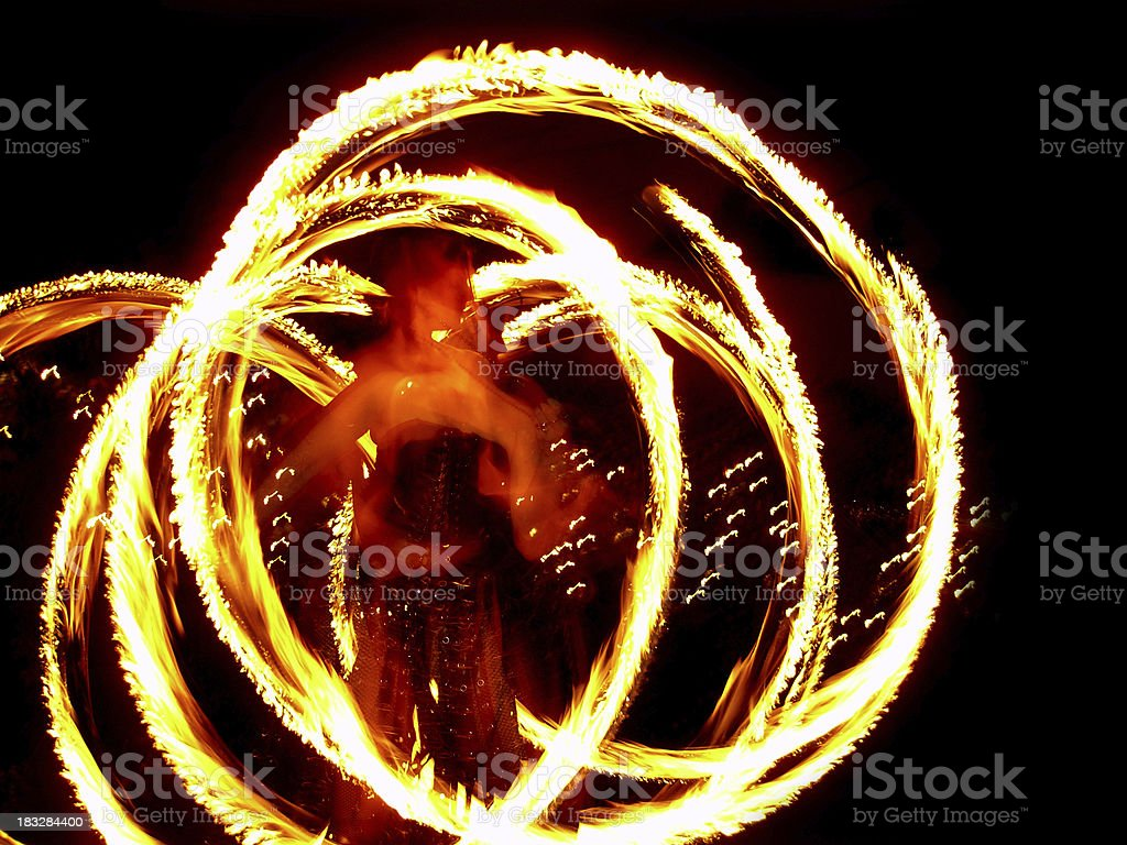 fire girl royalty-free stock photo