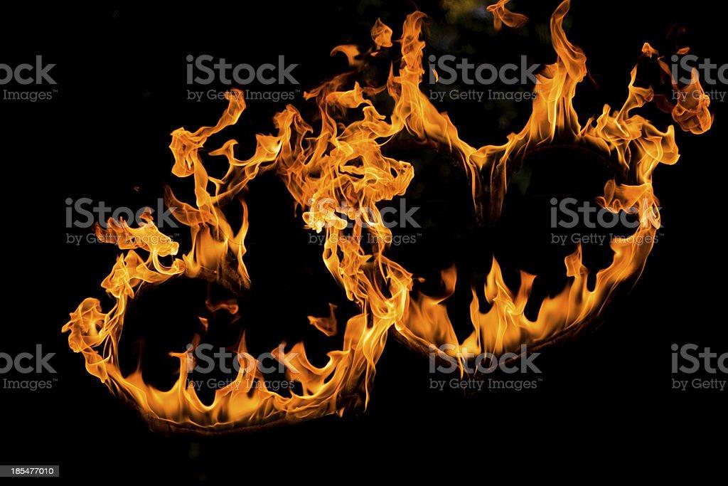 Fire heart royalty-free stock photo
