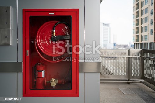 Fire Hose cabinet at outdoor space