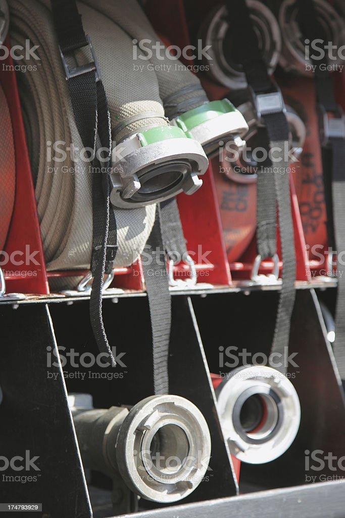Fire hoses stock photo