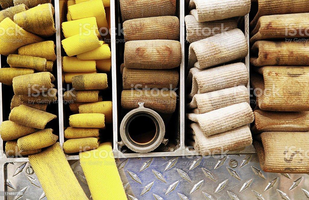 Fire hoses royalty-free stock photo