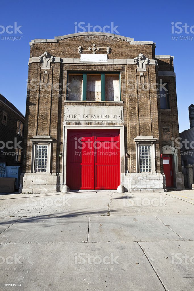 Fire House in Gage Park, Chicago royalty-free stock photo