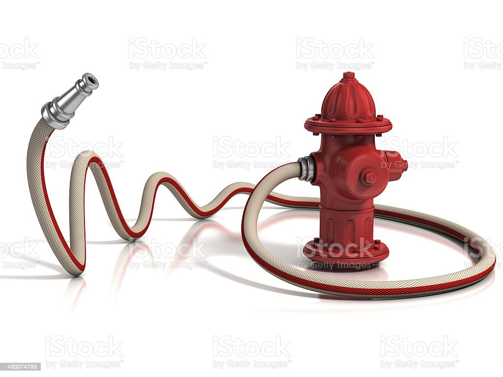 fire hydrant 3d illustration isolated on white stock photo