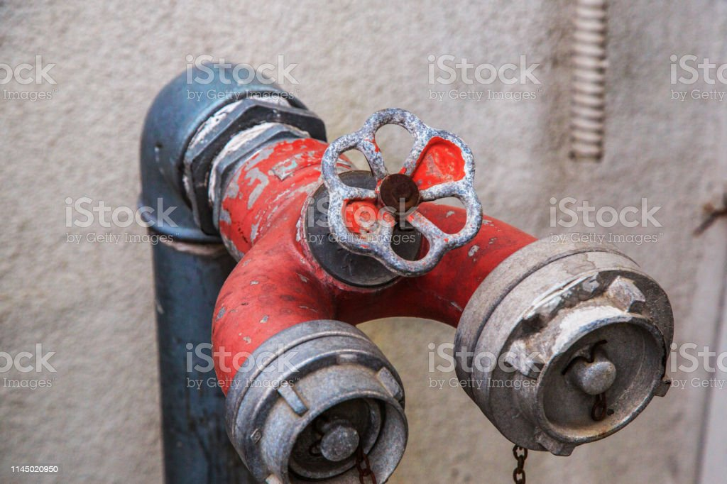 Fire hydrant for emergency fire access.