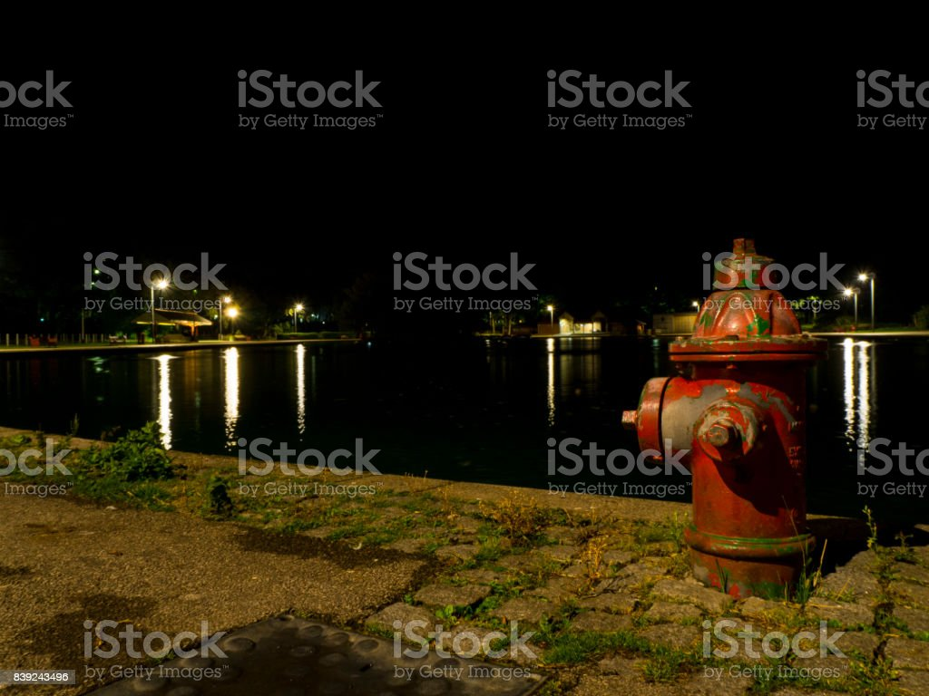 Fire Hydrant Lake stock photo