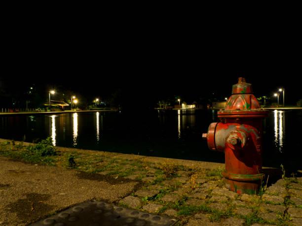 Fire Hydrant Lake stock photo