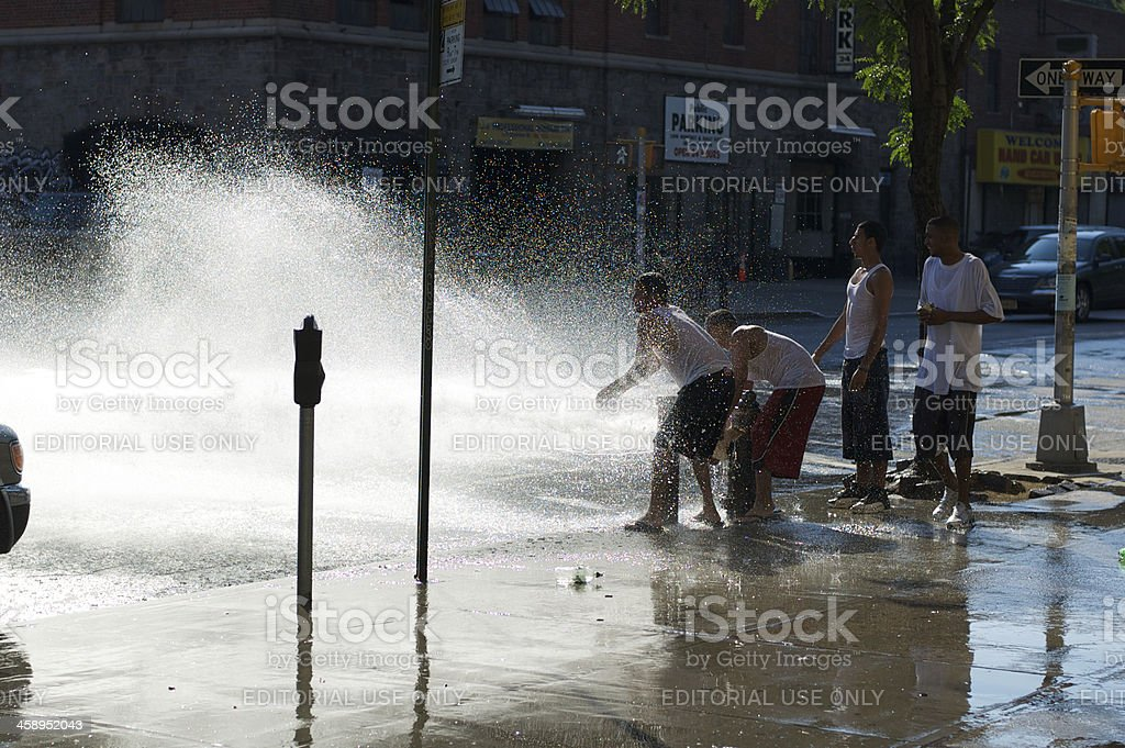 Fire Hydrant New York City Summer Day stock photo