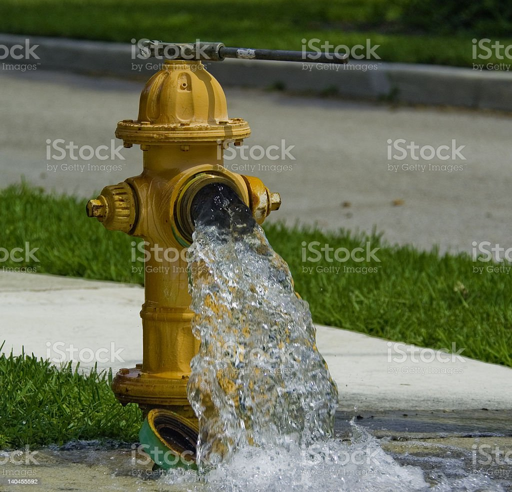 Fire Hydrant Open stock photo