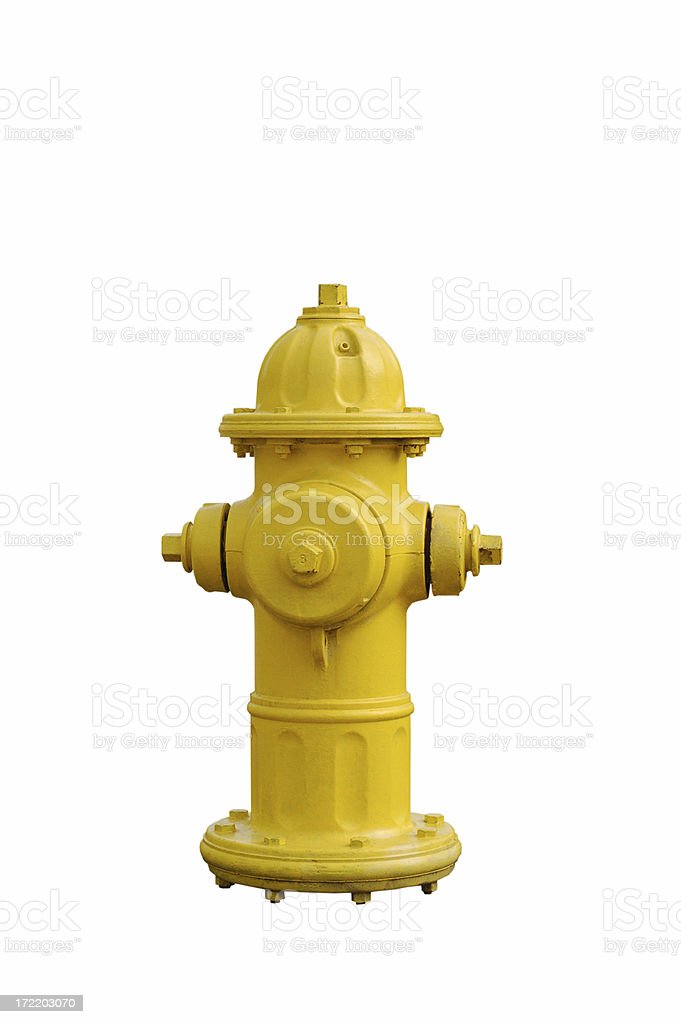 Yellow fire hydrant isolated on white See more isolated objects here: