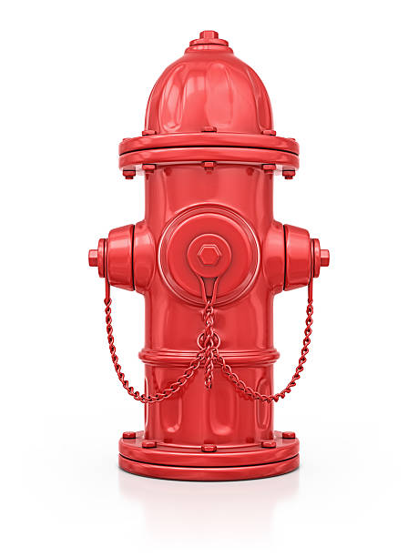 fire hydrant isolated red fire hydrant.3d render. fire hydrant stock pictures, royalty-free photos & images