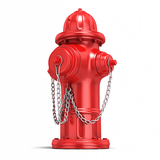 Fire Hydrant 3d render red Fire Hydrant close-up (isolated on white and clipping path) fire hydrant stock pictures, royalty-free photos & images