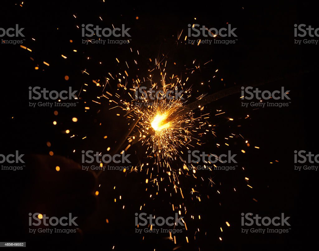 fire in a hand stock photo
