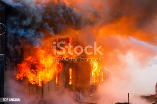 istock Fire in a house 507185368
