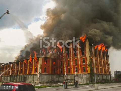 Fire In An Old Building in Celje. Building was destroyed and now don't exists anymore.