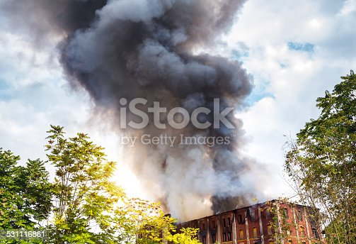istock Fire In An Old Building 531116861