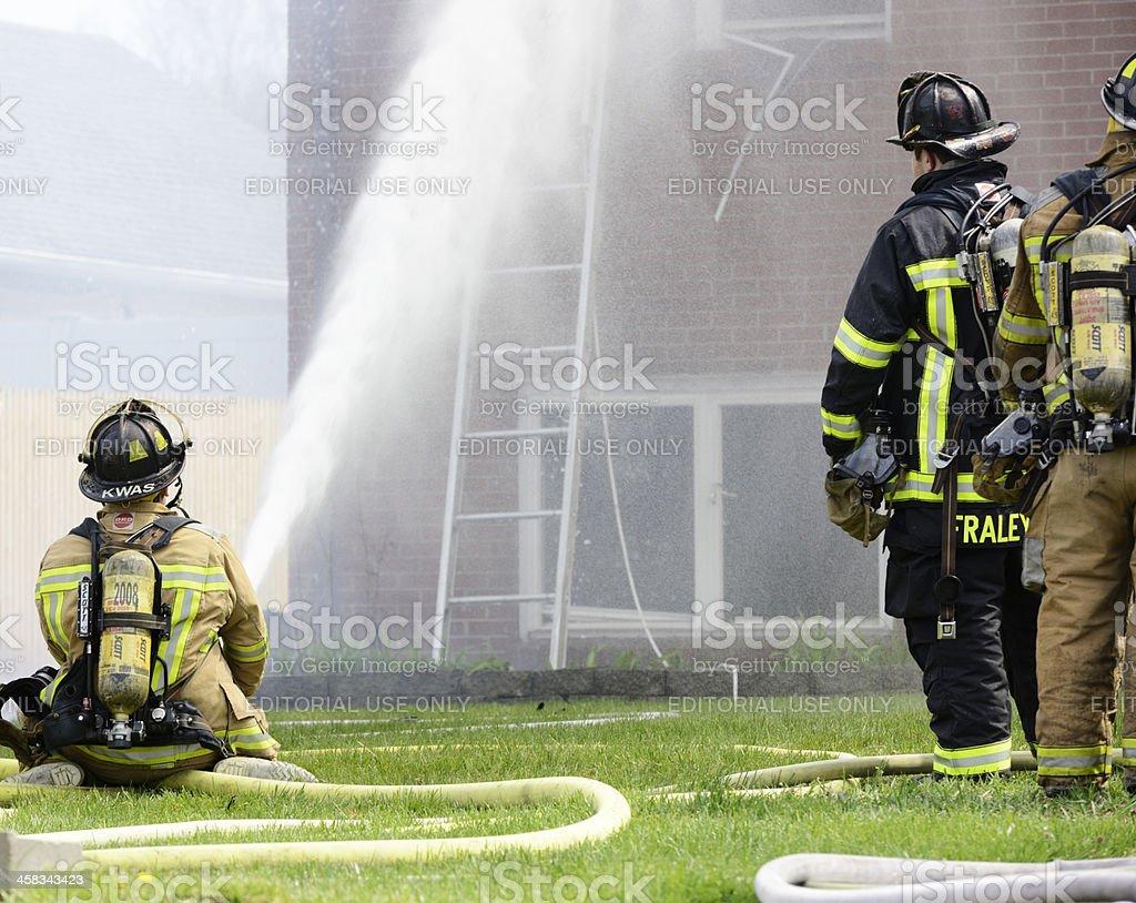 Fire in Farmington, CT royalty-free stock photo