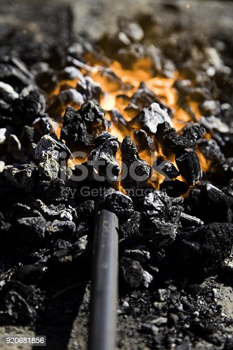 547224670istockphoto Fire in forge 920681856