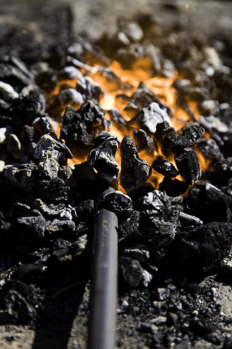 547224670 istock photo Fire in forge 920681856