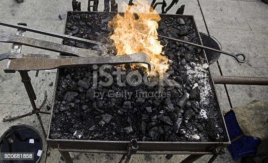 547224670istockphoto Fire in forge 920681858