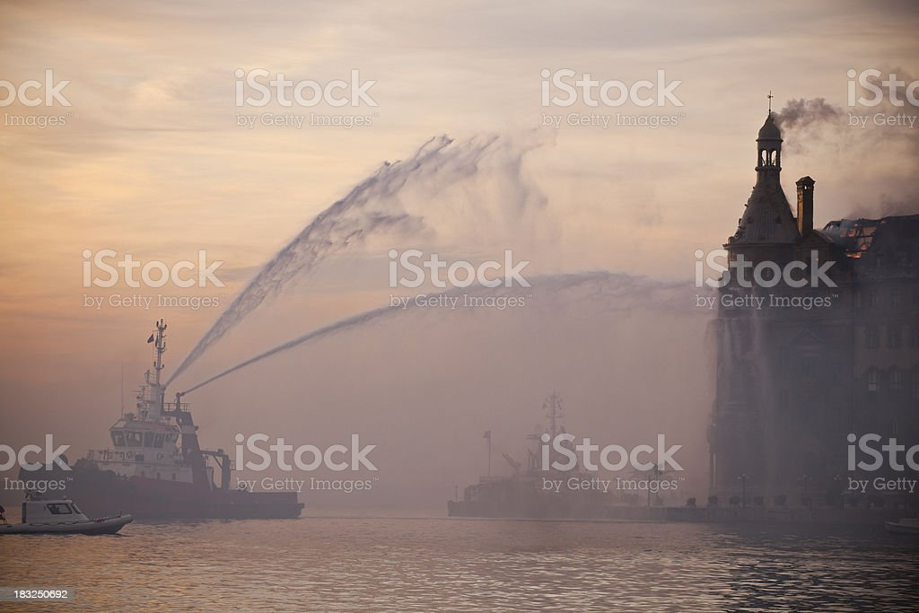Fire in Istanbul, stock photo