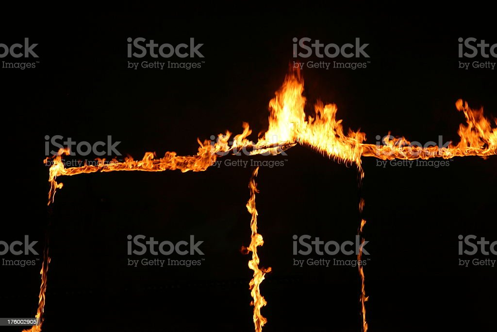 Fire in stripes stock photo