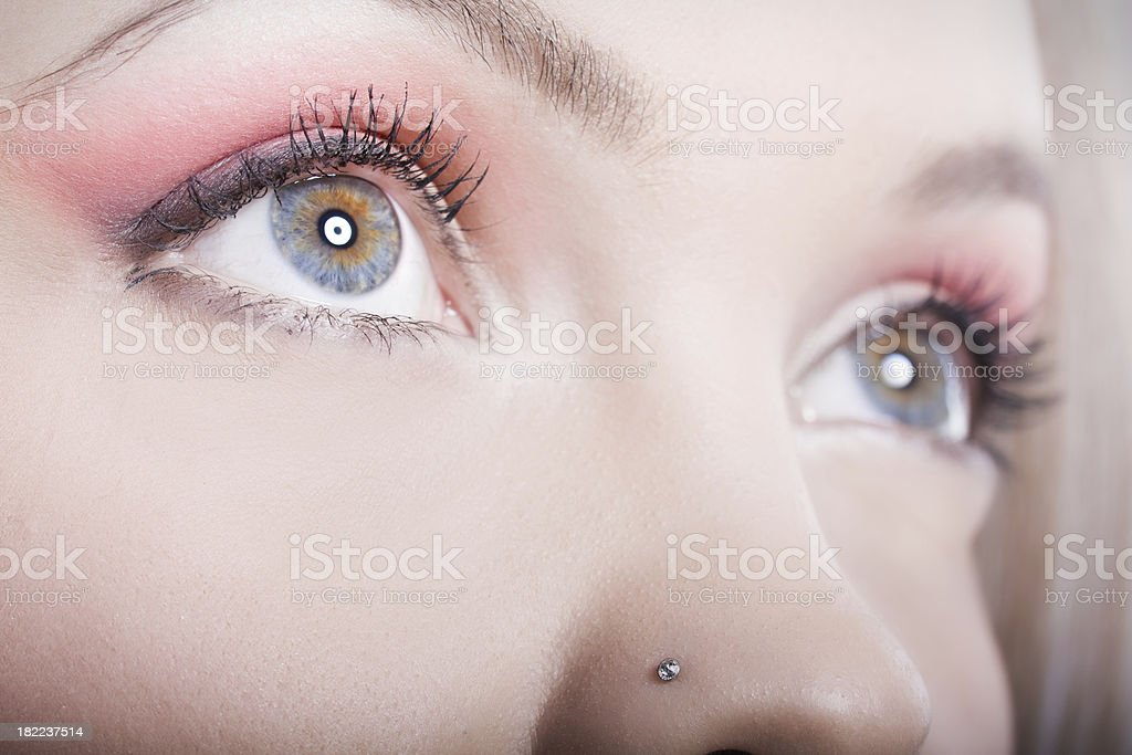 Fire in the blue eyes royalty-free stock photo