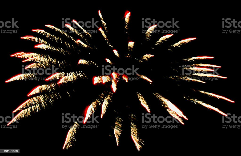 Fire in the Sky royalty-free stock photo