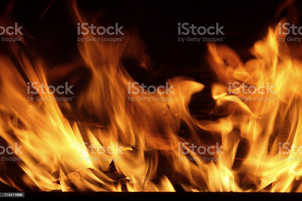 Fire in Your fireplace stock photo