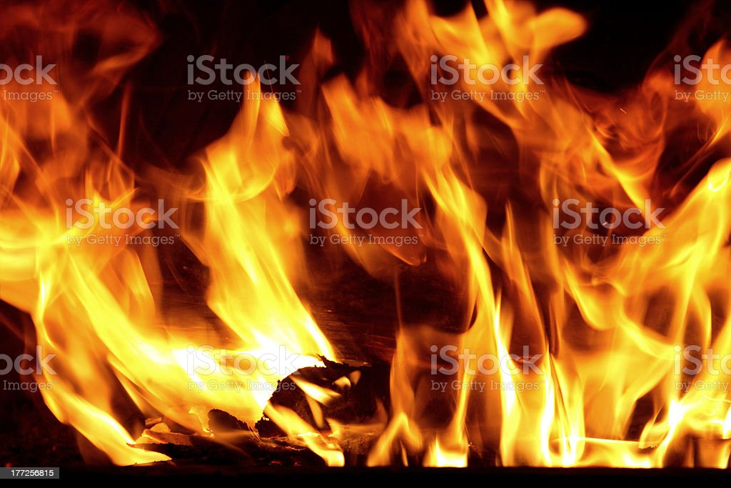 Fire in Your fireplace royalty-free stock photo