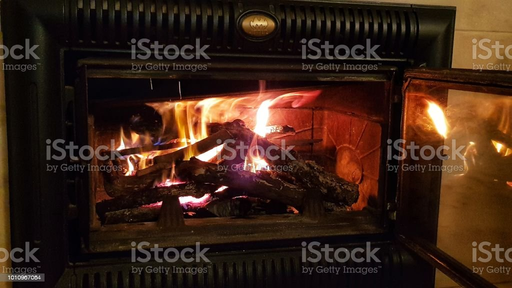 Fuego interior - foto de stock