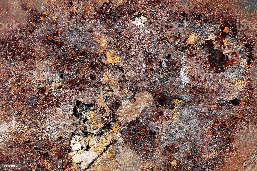 Fire induced corrosion royalty-free stock photo