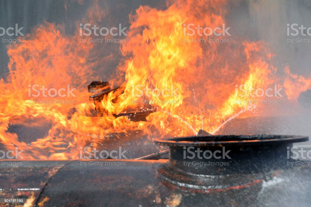 Fire industry close up. stock photo