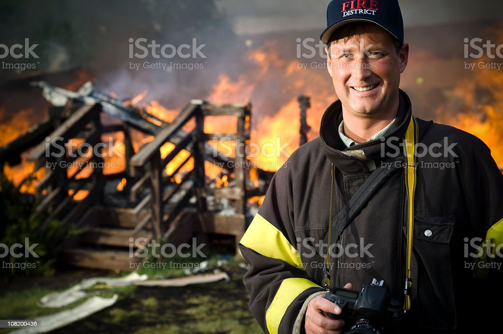 Fire Investigator royalty-free stock photo