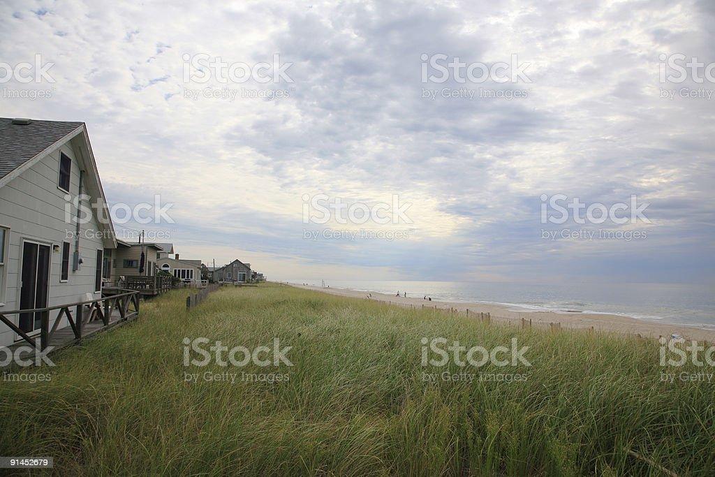 Fire Island Beach Houses royalty-free stock photo