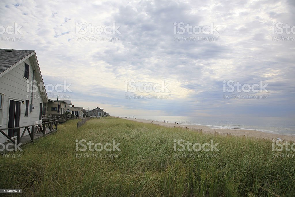 Fire Island Beach Houses stock photo