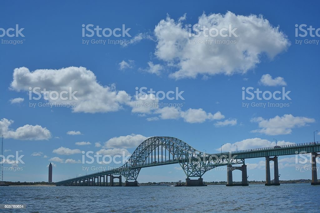 Fire Island Inlet Bridge stock photo