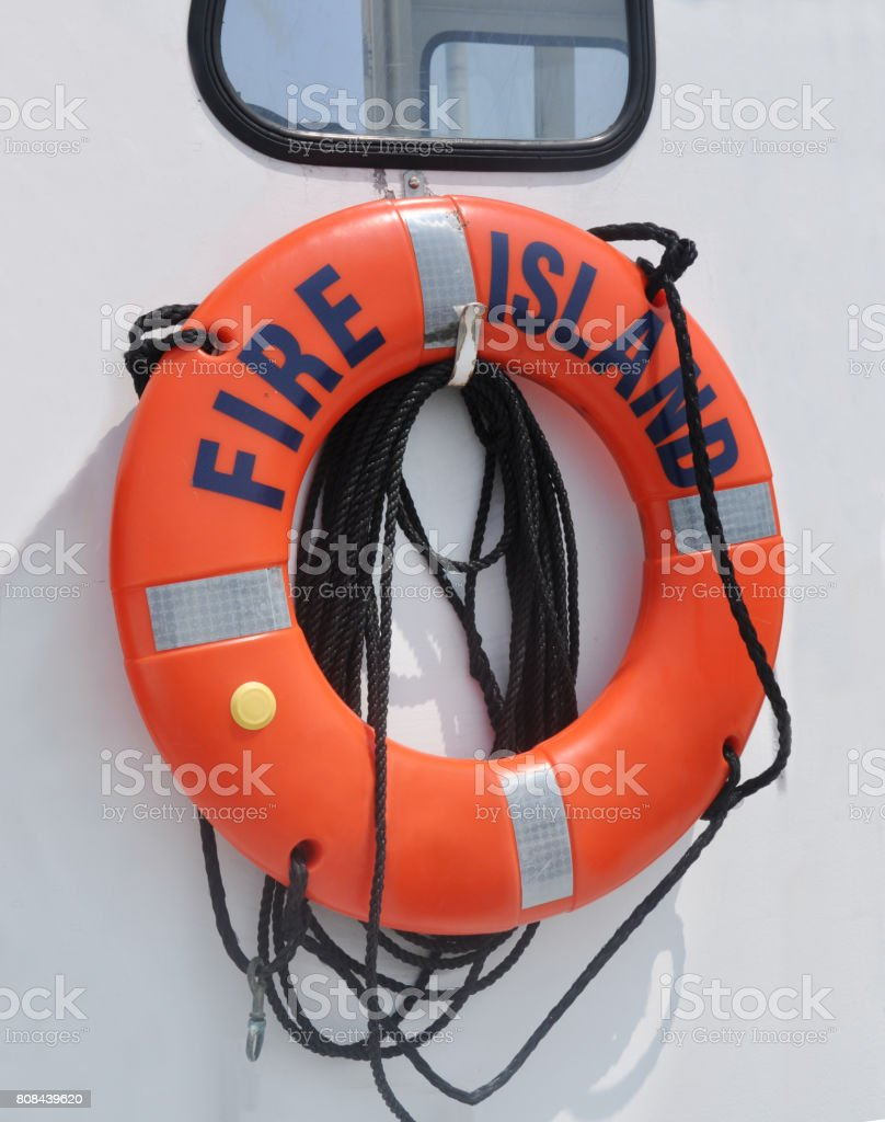 Fire Island Life Preserver stock photo