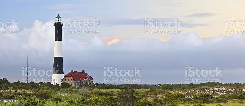 Fire Island Lighthouse Panorama stock photo