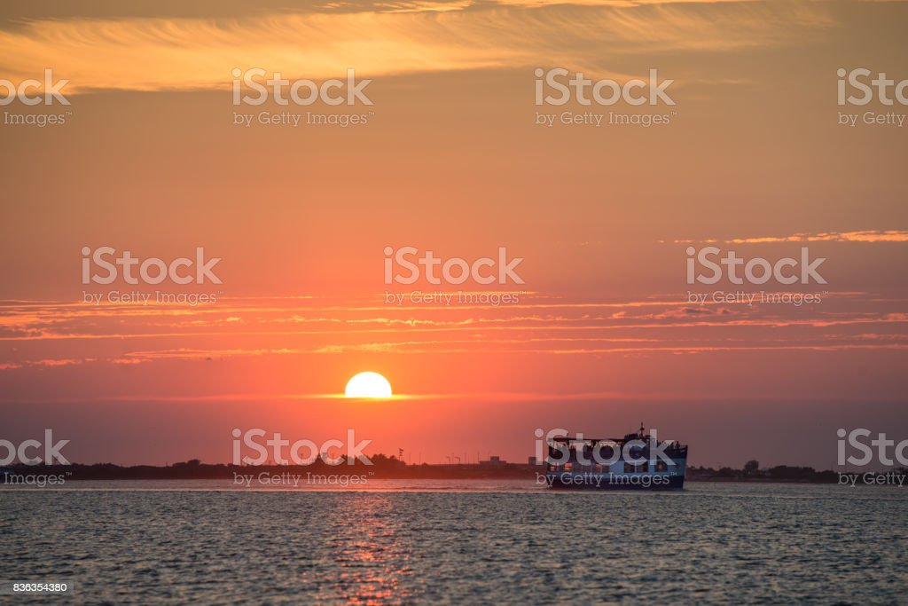Fire Island Sunset stock photo