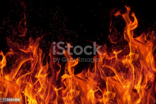 istock fire isolated over black background 113494458