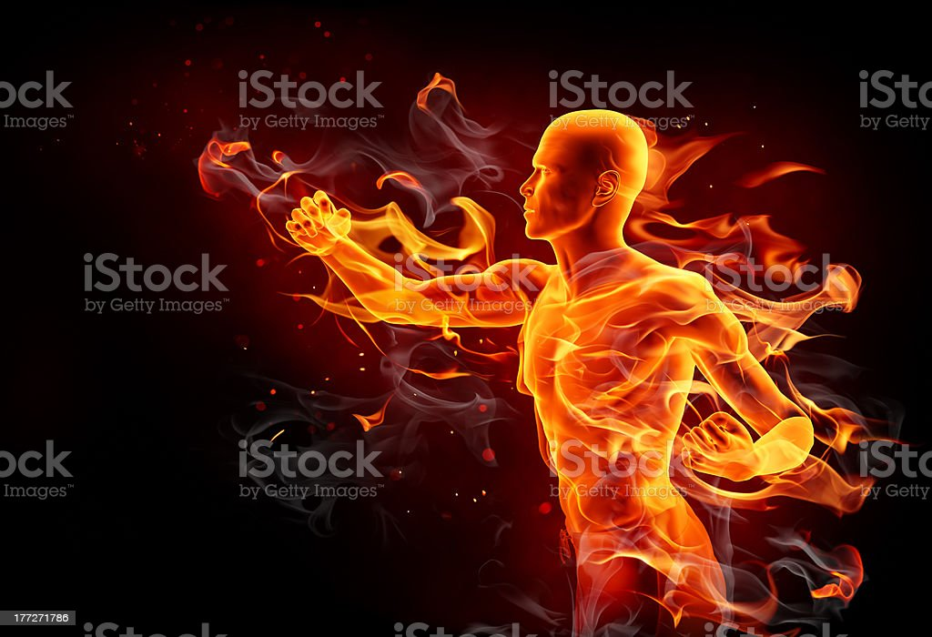 Fire kick stock photo