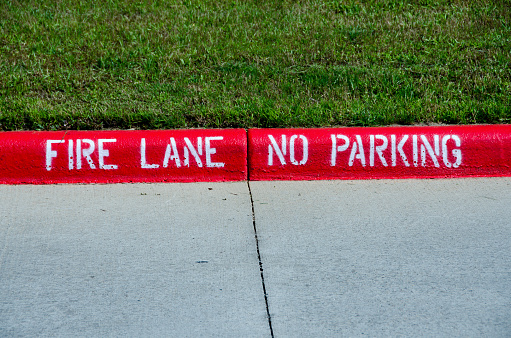 Fire Lane Parking Stock Download Image Now Istock