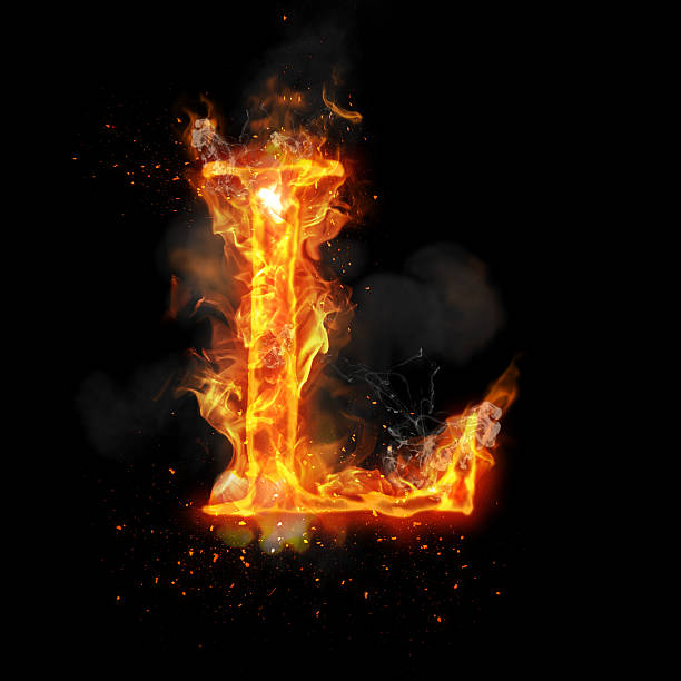 Fire Letter L Stock Photos, Pictures & Royalty-Free Images