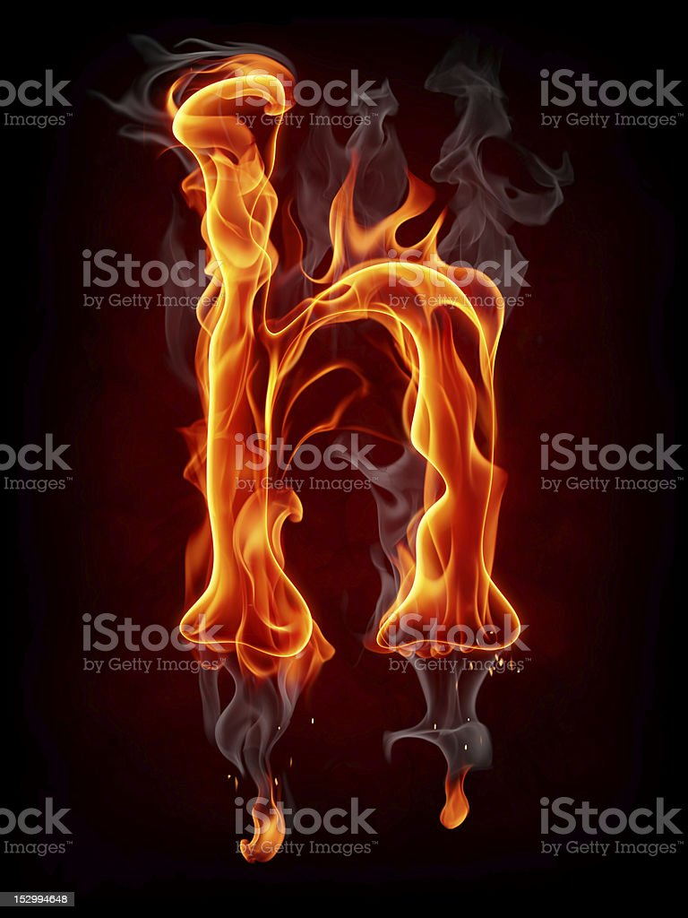 Fire letter stock photo