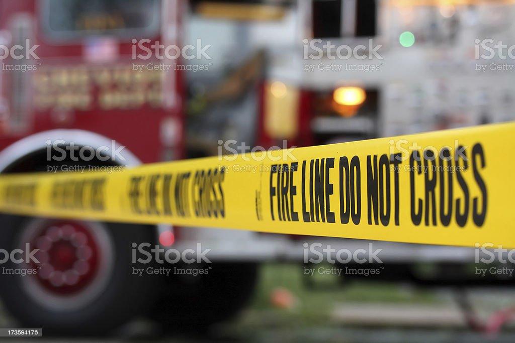 Fire Line stock photo