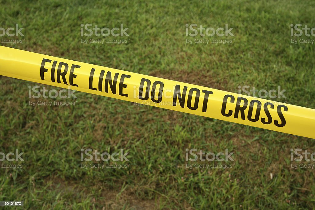 Fire line tape stock photo