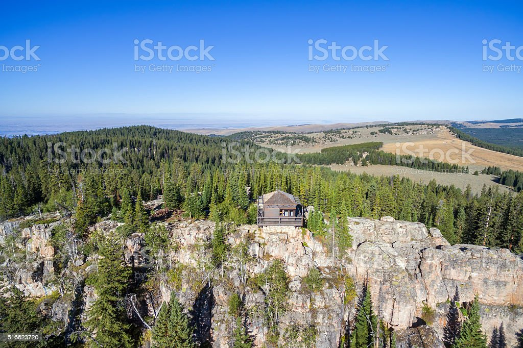 Fire Lookout View stock photo