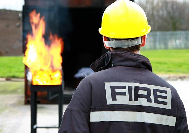 fire marshalling stock photo