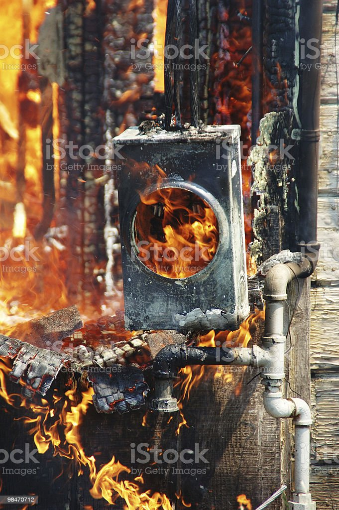Fire Meter royalty-free stock photo